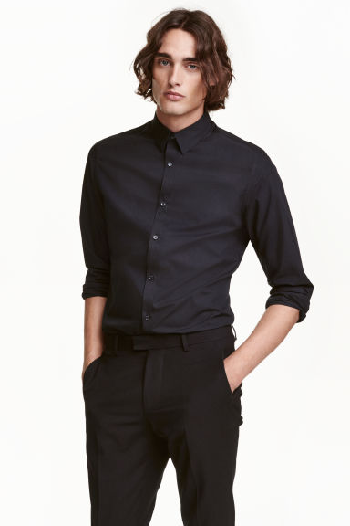 2-pack easy-iron shirts - Black - Men | H&M CN 1