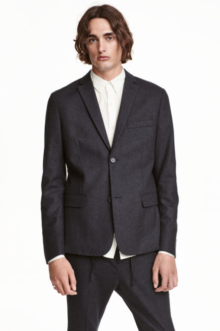 Wool-blend blazer Slim fit
