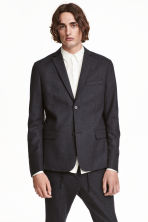 Wool-blend blazer Slim fit - Dark grey - Men | H&M CN 1