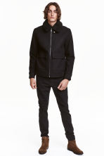 Slim Regular Tapered Jeans - Nearly black - HOMEM | H&M PT 1