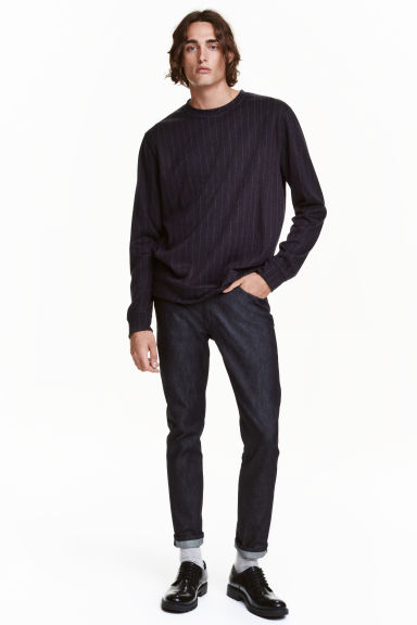 Slim Regular Tapered Jeans - Blu denim scuro - UOMO | H&M IT 1
