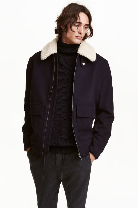 Wool-blend flying jacket
