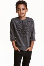 Washed look sweatshirt - Black washed out - Kids | H&M CN 1