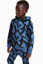 Printed hooded top - Blue/Bats - Kids | H&M CN 1