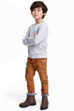 Lined cargo pants - Camel - Kids | H&M CN 1