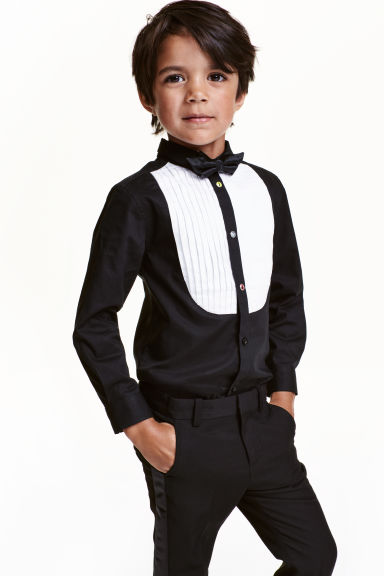 Dress shirt with a bow tie - Black - Kids | H&M CN 1