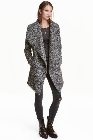 Wool-blend bouclé coat Model