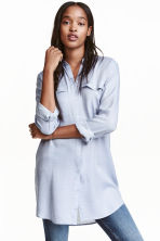 Long shirt - Blue - Ladies | H&M CN 1
