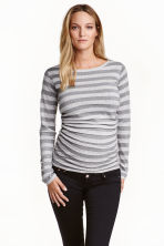 MAMA Fine-knit jumper - Silver-grey/Striped - Ladies | H&M CN 1