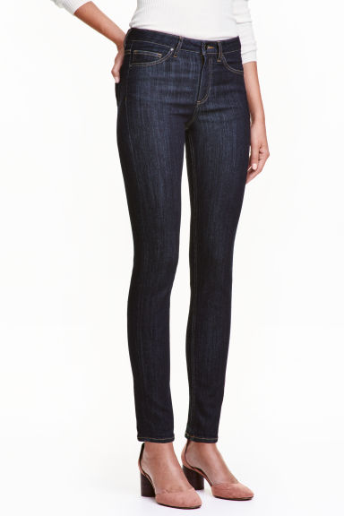 Slim Regular Jeans - 深牛仔蓝 - Ladies | H&M CN