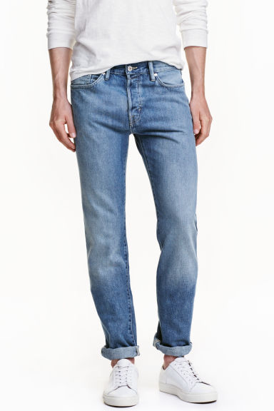 Slim Regular Selvedge Jeans - 浅牛仔蓝 -  | H&M CN 1
