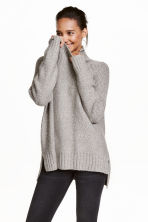Pullover a collo alto - Grigio mélange - DONNA | H&M IT 1