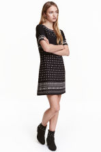 Patterned dress - Black/Patterned - Ladies | H&M CN 1