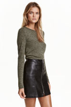 Marled top - Dark green - Ladies | H&M CN 1