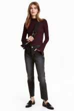 Straight Ankle Jeans - Nearly black - Ladies | H&M CN 1