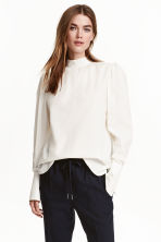 Cotton blouse - null - Ladies | H&M CN 1