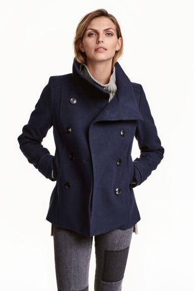 Double-breasted jacket - Black - Ladies | H&M GB