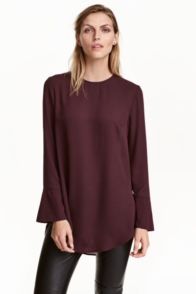 Long-sleeved blouse - Plum - Ladies | H&M CN 1