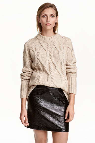 Gonna con coating - Nero -  | H&M IT 1