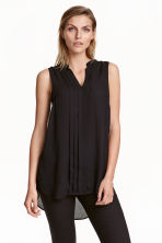 Sleeveless top - Black - Ladies | H&M CN 1