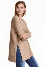 Knitted jumper - Beige marl - Ladies | H&M GB 1