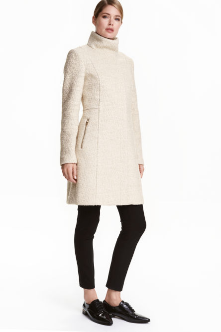 Short wool-blend coat