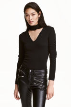 Top a lupetto in maglia fine - Nero - DONNA | H&M IT 1