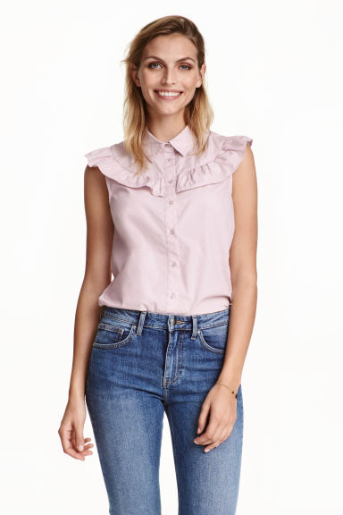 Cotton blouse - Light pink - Ladies | H&M CN