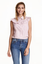 Cotton blouse - Light pink - Ladies | H&M CN 1