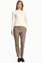 Suit trousers - Mole/Checked - Ladies | H&M CN 1