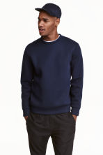 Sweatshirt - Dark blue - Men | H&M CN 1