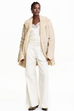 Suede coat - Light beige - Ladies | H&M GB 1