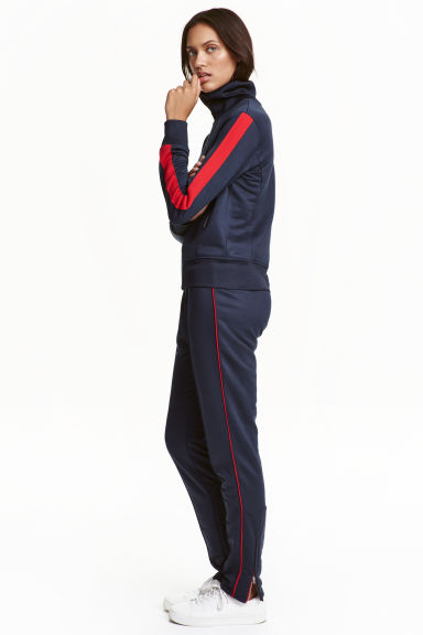 Joggers in acetato - Blu scuro/rosso - DONNA | H&M IT 1