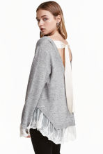 Jumper with lace trims - Grey marl - Ladies | H&M 2