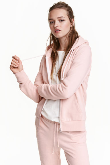 Hooded jacket - Powder pink - Ladies | H&M CN 1
