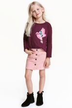 A-line velvet skirt - Light pink - Kids | H&M CN 1