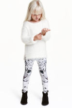 Patterned leggings - White/WWF - Kids | H&M CN 1