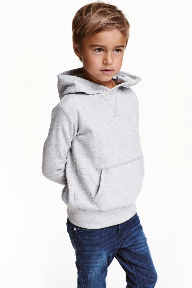 Hooded top - Light grey marl - Kids | H&M CN 1