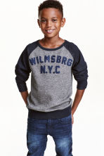 Sweatshirt - Dark blue marl - Kids | H&M CN 1