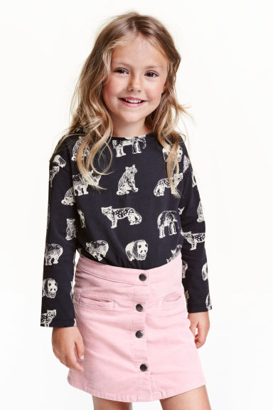 Printed jersey top - Black/WWF - Kids | H&M CN