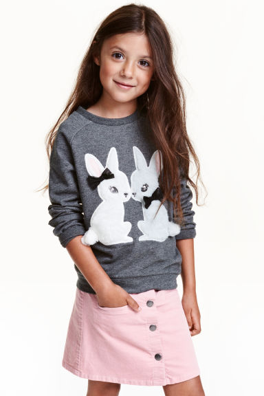 Sweatshirt - Dark grey/Rabbit - Kids | H&M CN 1