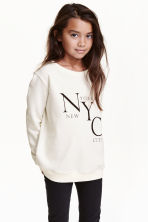 Printed sweatshirt - Natural white/New York - Kids | H&M CN 1