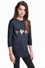 Jersey top with a motif - Black/Spooky - Kids | H&M CN 1