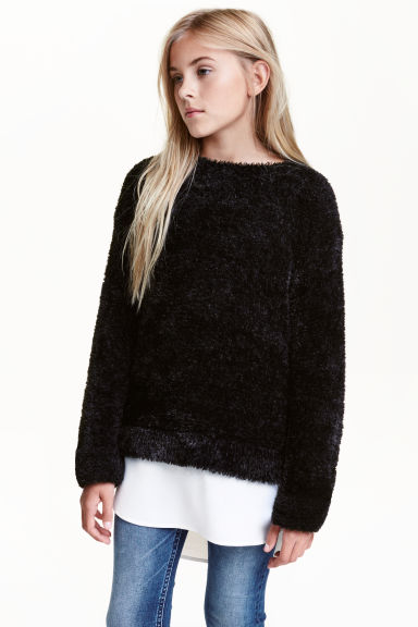Knitted jumper - Black -  | H&M CN 1