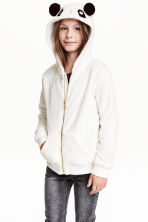 Hooded plush jacket - Natural white - Kids | H&M CN 1