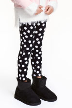 Warm-lined boots - Black/Glitter - Kids | H&M CN 1