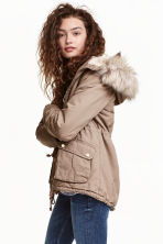 Pile-lined parka - Beige - Ladies | H&M CN 1
