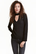 Crêpe blouse - Black - Ladies | H&M GB 1