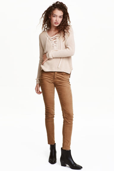 Corduroy trousers - Dark brown - Ladies | H&M CN 1
