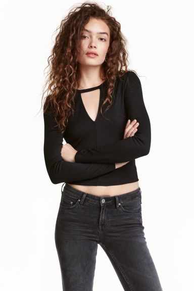 Jersey top - Black - Ladies | H&M GB 1